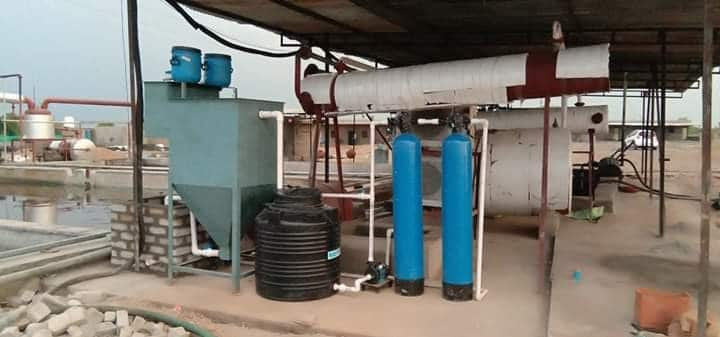 Tyre pyrolysis wastewater treatment plant